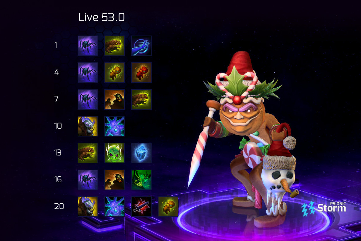 Nazeebo Spiders Build On Psionic Storm Heroes Of The Storm He resembles the male witch doctor from diablo iii (though he remained unnamed during the events of diablo iii). nazeebo spiders build on psionic