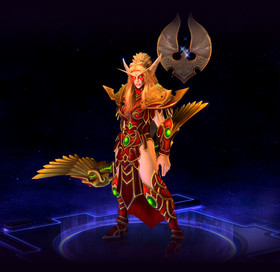 Skin Tyrande: Blood Elf Tyrande