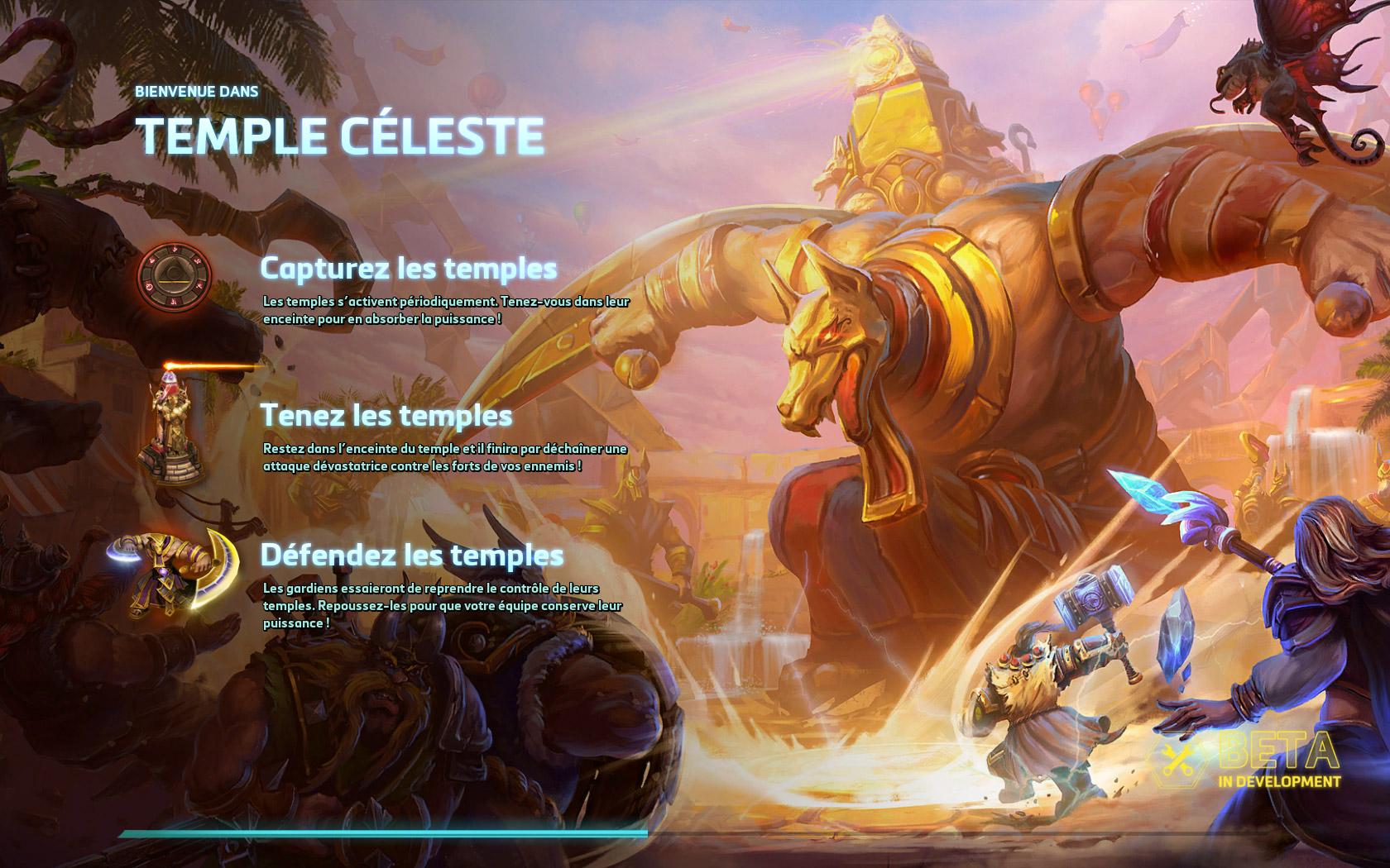 Chargement du champ de bataille Temple Céleste
